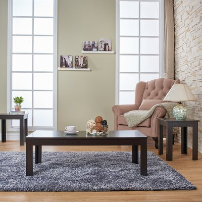 Saxonburg 3 Piece Coffee Table Set Finish: Light Oak