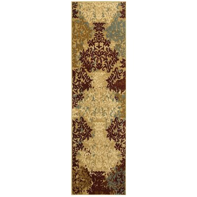 Grace Ivory/Red Area Rug Rug Size: Runner 2 x 77
