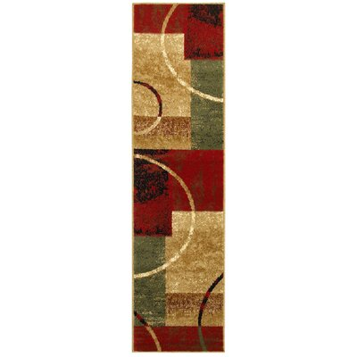 Eileen Cotton Red/Gold Area Rug Rug Size: Runner 21 x 75