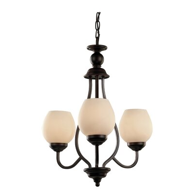 Willowbrook 3-Light Shaded Chandelier Finish: Rubbed Oil Bronze
