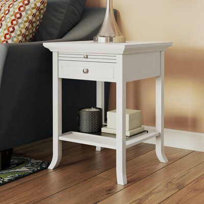 American Heritage End Table Finish: White