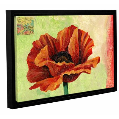 Poppy Framed Painting Print on Wrapped Canvas Size: 12