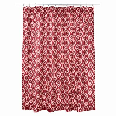 Philipsburg 100% Cotton Shower Curtain Color: Crimson