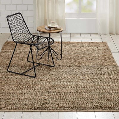Baxter Hand-Woven Natural Area Rug Rug Size: 6 x 9
