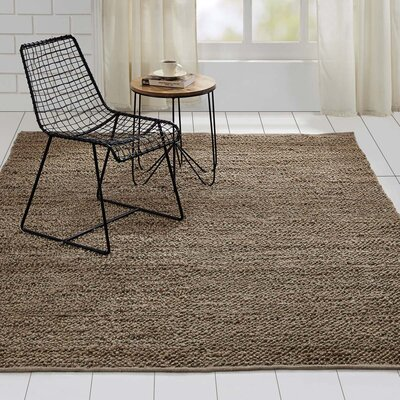 Baxter Hand-Woven Silver Area Rug Rug Size: 6 x 9