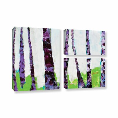 Fun Forest 3 Piece Painting Print on Wrapped Canvas Set Size: 36