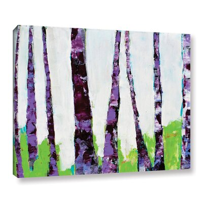 Fun Forest Painting Print on Wrapped Canvas Size: 14