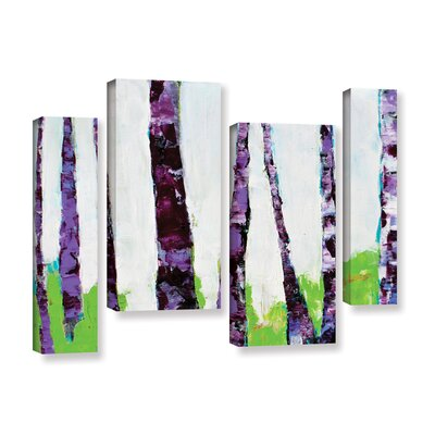 Fun Forest 4 Piece Painting Print on Wrapped Canvas Set Size: 24