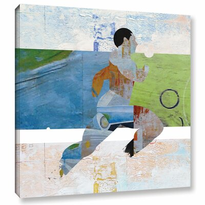 'Runner' Painting Print on Wrapped Canvas Size: 10