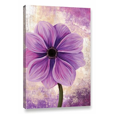 'Anemone' Painting Print on Wrapped Canvas Size: 12