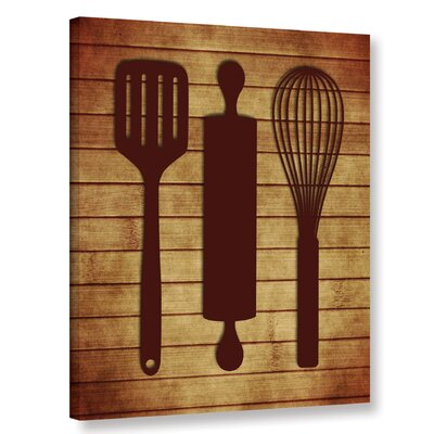 'Kitchen Utensils' Graphic Art on Wrapped Canvas ANDO5605 33616888