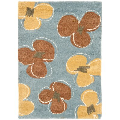 Armstrong  Hand-Tufted Blue Area Rug Rug Size: Rectangle 76 x 96