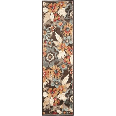 Gordon Dark Brown Area Rug Rug Size: Runner 22 x 8