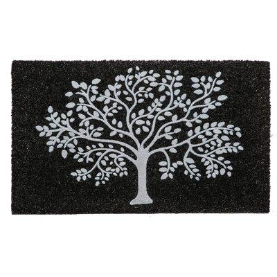 Currahee Tree of Life Flocked Coir Doormat