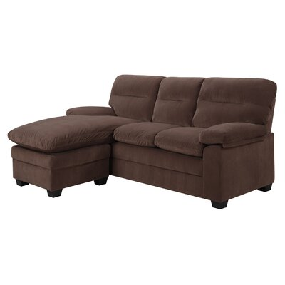 Reversible Sectional Upholstery: Cocoa