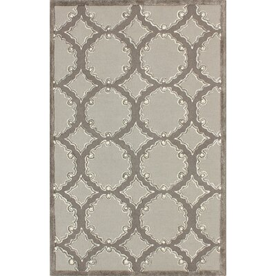 Thomas Hand-Tufted Gray/Light Gray Area Rug Rug Size: Round 5