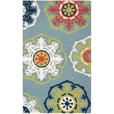 Cynthiana Hand-Tufted Blue Area Rug
