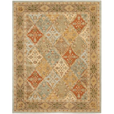 Salamanca Hand-Tufted Light Blue/Light Brown Area Rug COLOR: Light Blue / Light Brown, Rug Size: 83 x 11