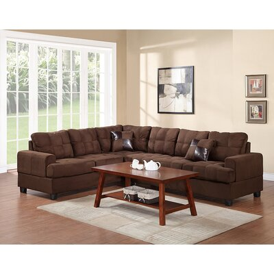 Birchview Reversible Sectional Upholstery: Chocolate