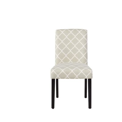 Yale Upholstered Side Chair Upholstery: Soft Gray Lattice, Pattern: Geometric