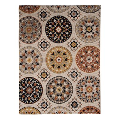 Medallion Brown Area Rug Rug Size: 33 x 52