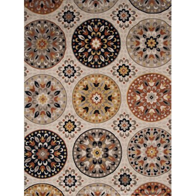 Medallion Brown Area Rug Rug Size: 52 x 72