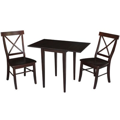Brookfield 3 Piece Dining Set Finish: Rich Mocha