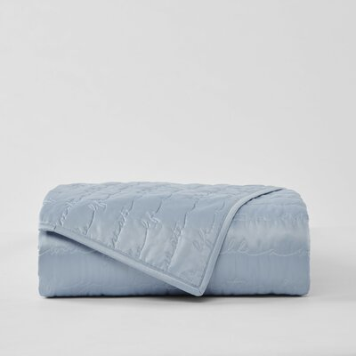 Sebring Coverlet Color: Blue, Size: King