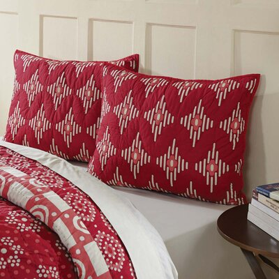 Philipsburg Sham Size: Standard, Color: Crimson