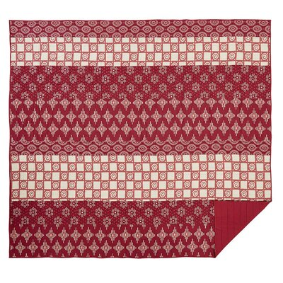 Philipsburg Quilt Color: Crimson, Size: Twin