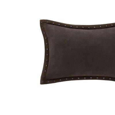 Ronning Stud Trim Lumbar Pillow Color: Brown