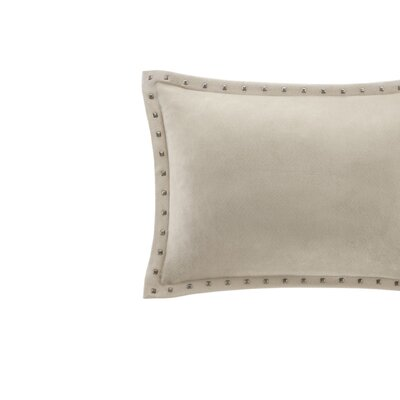 Ronning Stud Trim Lumbar Pillow Color: Tan