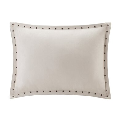 Ronning Stud Trim Lumbar Pillow Color: Ivory