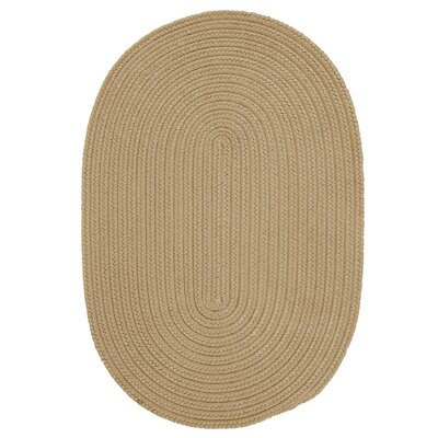 Mcintyre Cuban Sand Indoor/Outdoor Area Rug Rug Size: Oval 4 x 6