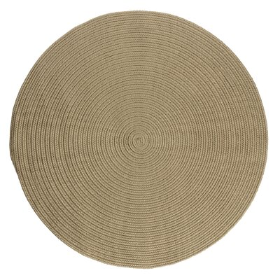 Mcintyre Cuban Sand Indoor/Outdoor Area Rug Rug Size: Round 6