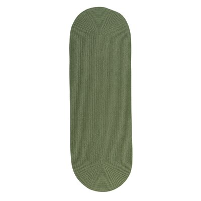 Mcintyre Moss Green Indoor/Outdoor Area Rug Rug Size: Oval Runner 2 x 12