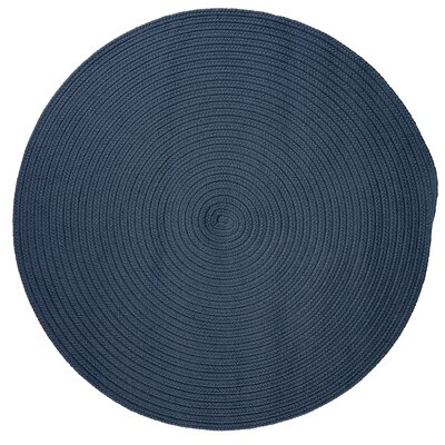 Mcintyre Blue Indoor/Outdoor Area Rug Rug Size: Round 4