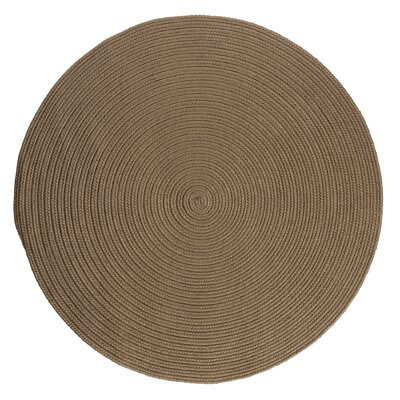 Mcintyre Brown Indoor/Outdoor Area Rug Rug Size: Round 4