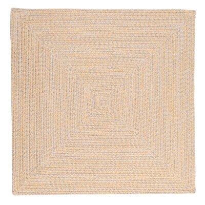 Rockland Yellow Sun-Soaked Indoor/Outdoor Area Rug Rug Size: Square 10