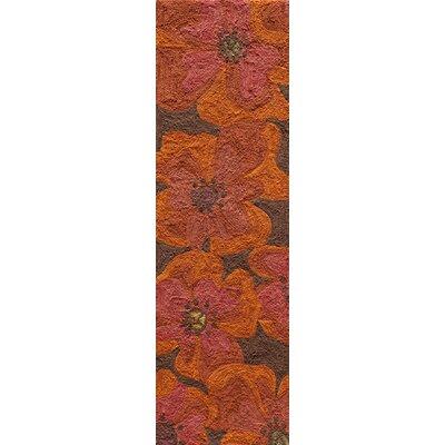Unionville Hand-Woven Raspberry Area Rug Rug Size: Runner 23 x 76