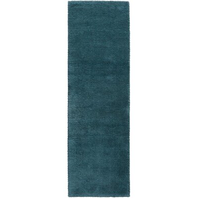 Tully Teal Green/Peacock Green Area Rug Rug Size: Runner 26 x 8