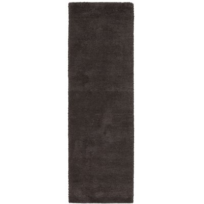 Tully Charcoal Gray Area Rug Rug Size: Runner 26 x 8