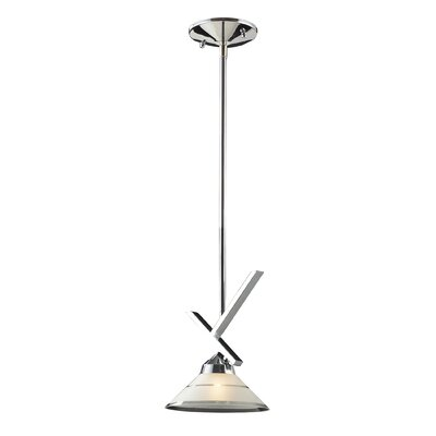 Sharpe 1-Light Polished Mini Pendant Finish: Polished Chrome and Etched Clear Glass