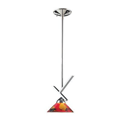 Sharpe 1-Light Polished Mini Pendant Finish: Polished Chrome and Jasper Glass