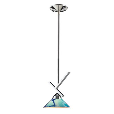Sharpe 1-Light Polished Mini Pendant Finish: Polished Chrome and Caribbean Glass