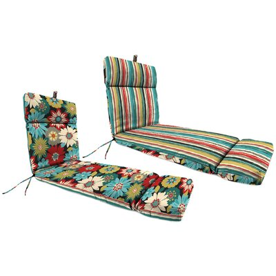 Reversible Outdoor Chaise Lounge Cushion