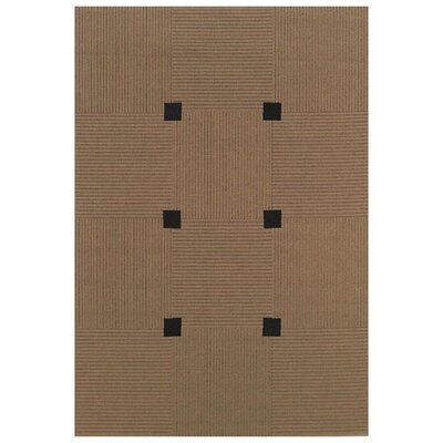 Woodard Beige/Black Indoor/Outdoor Area Rug Rug Size: 53 x 76