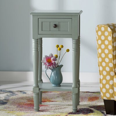 Adaline End Table Color: Antique Iced Blue