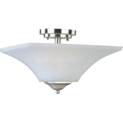 Slovan 2-Light Semi-Flush Mount Finish: Satin nickel