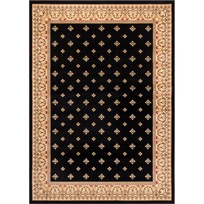 Dewolf Black Border Area Rug Rug Size: Rectangle 311 x 53